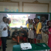 Students from Mada International College at the EEP webinar